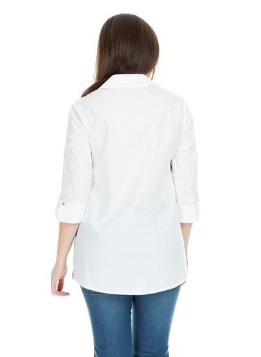 Modailgi Bluz Beyaz